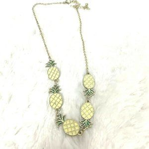Other - Pineapple Tropical Fruit Choker Necklace Yellow
